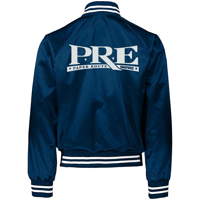 ROLE MODEL PAPER ROUTE  BASEBALL JACKET (BLUE)