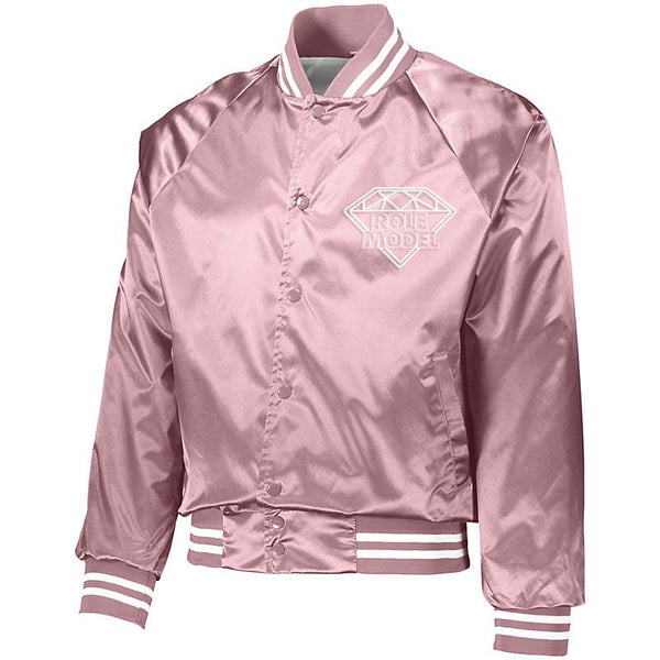 ROLE MODEL PAPER ROUTE  BASEBALL JACKET (PINK)