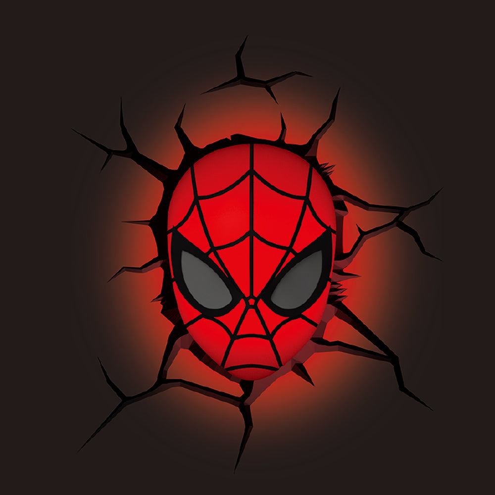 3d light fx marvel spider man mask mini 3d deco led wall light movgo 3d light fx marvel spider man mask mini 3d deco led wall light aloadofball