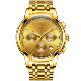 Men's Chronograph Two-Tone Stainless Steel Bracelet Watch - Gold