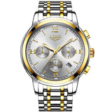 Men's Chronograph Two-Tone Stainless Steel Bracelet Watch