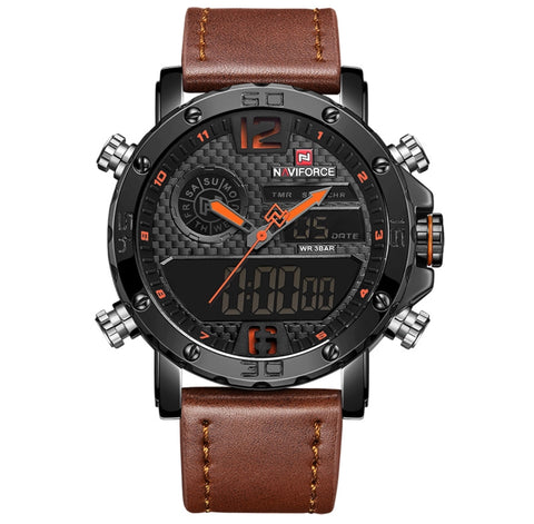 NAVIFORCE Men Sport Chronograph Watch with Date and Week