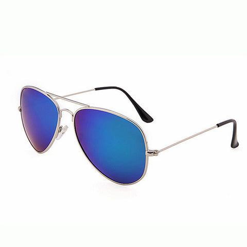 Mirrored Aviator Sunglasses Blue