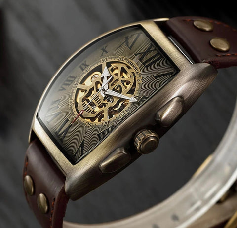 Transparent Skeleton Automatic Mechanical Watch