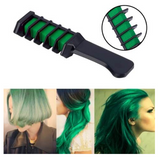 PROFESSIONAL HAIR CHALK COMB - TEMPORARY HAIR DYE COLOR GREEN