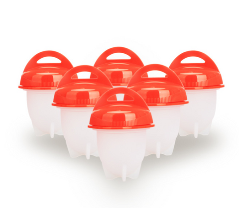 Hard Boiled Egg Cooker - Egglettes 6 Pack