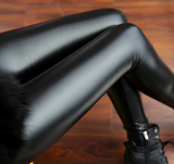 PU Leather Pants High Elastic Waist Leggings