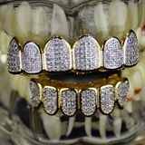 Premium CZ Gold Grillz Set