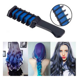 PROFESSIONAL HAIR CHALK COMB - TEMPORARY HAIR DYE COLOR BLUE