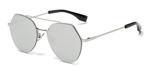 Flat Mirrored Cat Eye Sunglasses