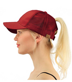 Messy Bun Ponytail Trucker Baseball Hat