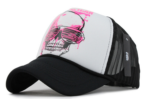 Skull Punk Trucker Hat