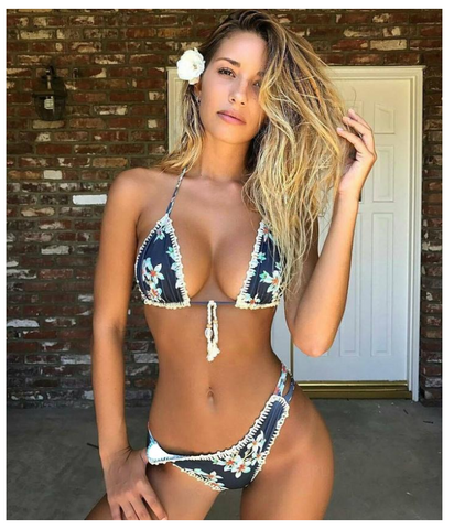 Flower Printed Bikini Set