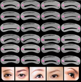 Eyebrow Template Stencil 24 piece