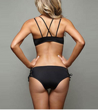 Black Lace Lift and Push Up Bikini Set - Black