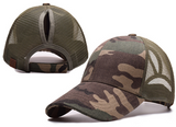 Messy Bun Ponytail Trucker Baseball Hat Camo