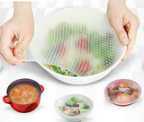 Reusable Food Saver Silicone Cover Wrap (Set of 4 Pcs)