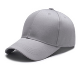 Solid Color Adjustable Baseball Hat Gray