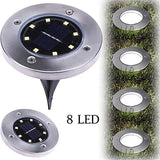 8 LED Solar Ground Walkway Lights