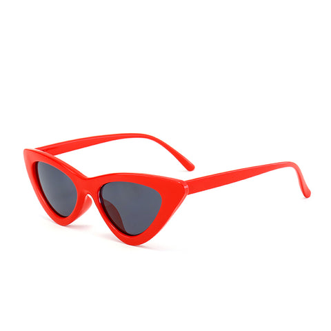 Retro Cat Eye Sunglasses Red