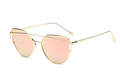 Cat Eye Sunglasses Rose Gold