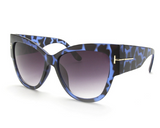 Cat Eye Sunglasses Blue Tortoise
