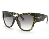 Cat Eye Sunglasses Green Tortoise