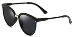 Erika's Classic Round Cat Eye Sunglasses Black