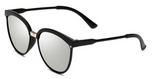 Erika's Classic Round Cat Eye Sunglasses Silver