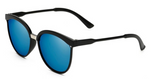 Erika's Classic Round Cat Eye Sunglasses Blue