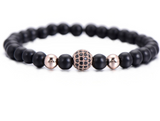 Spiritual Beads Bracelet with Black Onyx & Crystal Ball