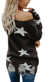 Stardust Distressed Sweater
