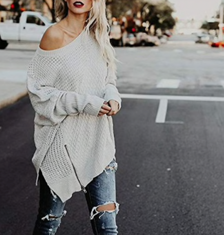 Fashion Zipper Sweater