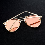 Women's Oversized Aviator Rimless Sunglasses