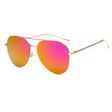 Women's Mirrored Aviator Sunglasses Purple