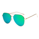 Women's Mirrored Aviator Sunglasses Green