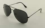 Mirrored Aviator Sunglasses Black