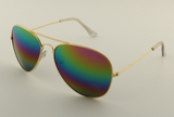 Mirrored Aviator Sunglasses Rainbow