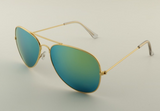 Mirrored Aviator Sunglasses Green