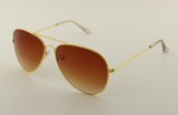 Mirrored Aviator Sunglasses Brown