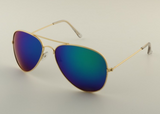 Mirrored Aviator Sunglasses Mercury Blue