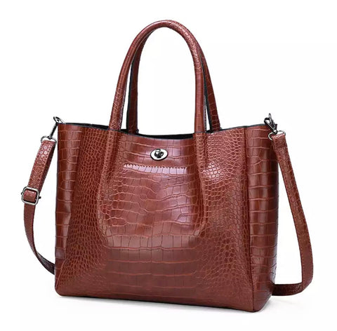 Macy's crossbody crocodile handbag