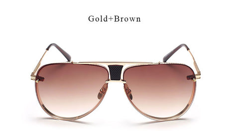 Aviator Polarized Sunglasses Gold Brown