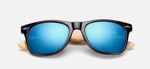 Bamboo Sunglasses Blue Mercury