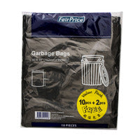 FairPrice Garbage Bag 10 + Free 2 S | Disposables | Office Pantry Supplies