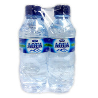 Danone Aqua Mineral Bottle Water  4 x 330ML | Water | Office Pantry Supplies