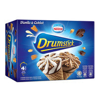 Nestle Ice Cream Drumsticks - Chocolate & Vanilla 4 x 110ML | Ice Cream | Office Pantry Supplies
