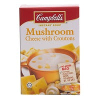 Campbell's Instant Soup - Mushroom Cheese with Croutons 3 x 21G | Instant Soups | Office Pantry Supplies