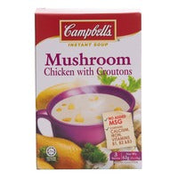 Campbell's Instant Soup - Mushroom Chicken with Croutons 3 x 21G | Instant Soups | Office Pantry Supplies
