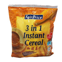 FairPrice 3 in 1 Instant Cereal Drink - Chocolate 600G | Instant Cereals | Office Pantry Supplies